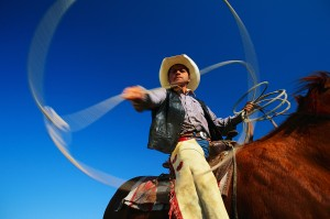 Cowboy Twirling Lasso
