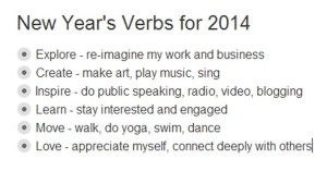 New Years Verbs