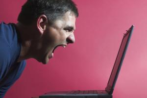 Shouting at laptop
