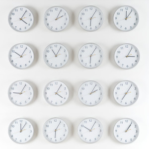 Wall Clocks Time Zones